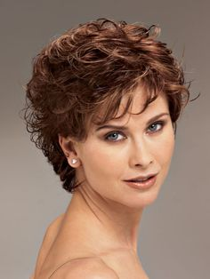 short hairstyles for curly hair women over 40- Hairstyles Portal