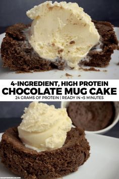 A simple chocolate protein mug cake recipe made with Swerve Chocolate Cake Baking Mix. This mug cake has 24 grams of protein and only 24 grams of carbs. A simple chocolate protein mug cake recipe made with Swerve Chocolate Cake Baking Mix. Healthy Chocolate Mug Cake, Chocolate Cake Mix Recipes, Chocolate Protein, Cake Recipes, Dessert Recipes, Meal Recipes, Dessert Ideas, Easy Mug Cake, Keto Mug Cake
