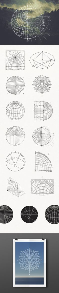 Mathematical Geography Vectors - download freebie by PixelBuddha