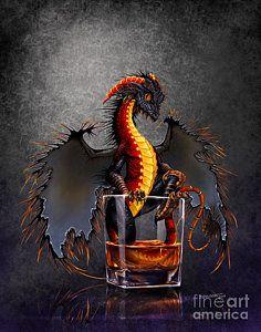 Dragon Print featuring the digital art Rum Dragon by Stanley Morrison Magical Creatures, Fantasy Creatures, Fantasy Kunst, Fantasy Art, Dragon Series, Dragon's Lair, Dragon Print, Cute Dragons, Dragons Den