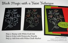Stampin' Up! Flourishing Phrases Black Magic With a Twist with Watercolor Pencils card by Dawn Olchefske for DOstamperSTARS Thursday Challenge #DSC215 #dostamping