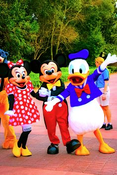 Minnie, Mickey, and Donald