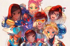 Overwatch – Girls Just Wanna Have Fun! by nakanoart.deviant… on Overwatch – Girls Just Wanna Have Fun! by nakanoart. Overwatch Tracer, Overwatch Comic, Overwatch Mercy, Overwatch Drawings, Fanart Overwatch, Overwatch Bastion, Girls Manga, Video Game Art, Cultura Pop