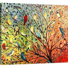 Twenty Seven Birds Canvas Print