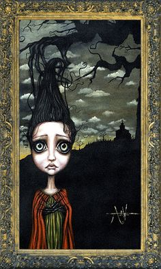 size: Stretched Canvas Print: Seedling by Angelina Wrona : Using advanced technology, we print the image directly onto canvas, stretch it onto support bars, and finish it with hand-painted edges and a protective coating. Apple Art, Galerie D'art, Painting Edges, Body Painting, Pop Surrealism, Gothic Art, Dark Gothic, Stretched Canvas Prints, Dark Art