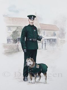 Great Britain Colour-Sergeant & Billy Royal Irish Rifles Tidworth 1912