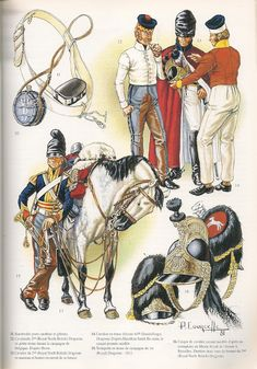 """Royal North British Dragoons"" e… British Army Uniform, British Uniforms, British Soldier, Military Art, Military History, First French Empire, Military Costumes, Military Uniforms, Dragons"