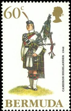 Bagpipes on Postage Stamps ~ A Virtual Collection ~ Stamp No. 69
