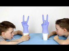 Zające i kwiatki - dmuchawka dla dzieci/ zabawka dla dzieci DIY/ DIY Bun... Latex Gloves, Rubber Gloves, Glove Puppets, Puppet Crafts, Balloon Decorations, Easter Bunny, Super Easy, Crafts For Kids, Make It Yourself