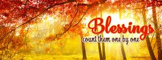 Blessings Count Them One By One Facebook Cover coverlayout.com