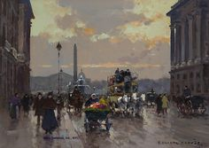 "Painting of the Day (just SOLD): Edouard Cortes's ""Place de la Concorde"" - http://rehs.com/blog/2014/11/painting-of-the-day-just-sold-edouard-cortess-place-de-la-concorde/"
