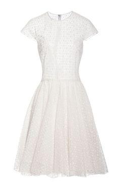 Shop Broderie+Anglaise+Silk+A-Line+Dress+by+Giambattista+Valli+Now+Available+on+Moda+Operandi