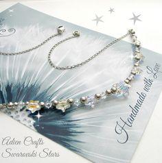 Stars Christmas Necklace with Swarovski £14.95