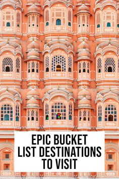Epic Travel Bucket List Destinations NOT To Miss – Best Travel Destinations Bucket List Destinations, Amazing Destinations, Travel Destinations, Cool Places To Visit, Places To Travel, Places To Go, Travel List, Travel Guides, Travel Rewards