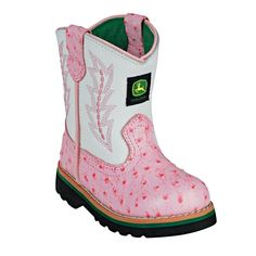 John Deere Toddler Pink Ostrich Boot......these would be the only reason to have a little girl