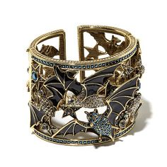 "Heidi Daus ""After Dark"" Crystal Cuff Bracelet"