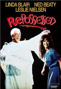 """""""Repossessed"""" - Directed by Bob Logan. With Leslie Nielsen, Linda Blair, Ned Beatty, Anthony Starke. Parody of The Exorcist with Linda Blair once again possessed by Satan, and Leslie Nielsen as the exorcist. Exorcist Movie, The Exorcist 1973, Hd Movies, Film Movie, Horror Movies, Leslie Nielsen, Linda Blair, The New Mutants, Fantasy Movies"""
