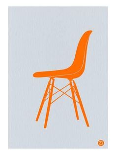 Eames Fiberglass Chair Orange Poster by Naxart Studio. All posters are professionally printed, packaged, and shipped within 3 - 4 business days. Choose from multiple sizes and hundreds of frame and mat options. Diy Chair, Chair Fabric, Chair Cushions, Swivel Chair, Metal Chairs, Cool Chairs, Leather Chairs, Bauhaus, Atelier Theme