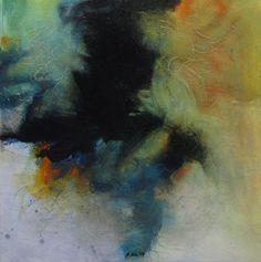 Studie 45, 2014 (P.Wienand)  Öl auf Folie/MDF,   25 x 25 cm