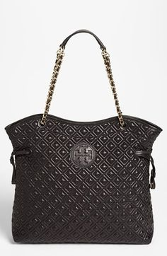 Tory Burch 'Marion Slouchy' Quilted Leather Tote, Large | Nordstrom