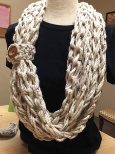 Kay's Crochet Bulky Rope Scarves with Bamboo Button