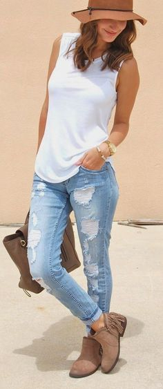 50+ cute casual jeans outfits for spring #casual #outfit #jeans