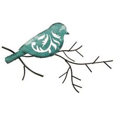 Twig Wall Decor red bird on a twig metal wall decoration | shop hobby lobby | for