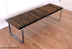 mid century modern slat bench by george nelson george nelson