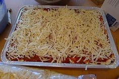 Very easy lasagna. No need to boil the noodles