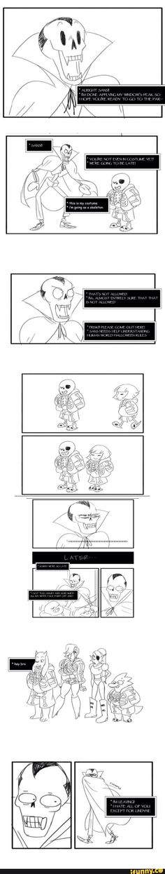 Undertale, Undyne, Frisk, Sans, Papyrus. When it's perfectly acceptable to show up at a Halloween party dressed as a skeleton. particularly the skelebros