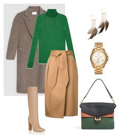 """""""Untitled #612"""" by mary-en ❤ liked on Polyvore featuring Coccinelle, Gucci, Estnation, Gianvito Rossi, Michael Kors, Serefina, StreetStyle, fallfashion, fallstyle and polyvorefashion"""