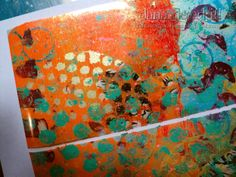 Dana's Inspirations: Gelli Plate Prints with Packing Tape