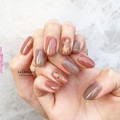 design by lachouette_risako La Chouette dojima Love Nails, Pretty Nails, Fun Nails, Minimalist Nails, Ringa Linga, Nagellack Trends, Japanese Nails, Healthy Nails, Fall Nail Designs