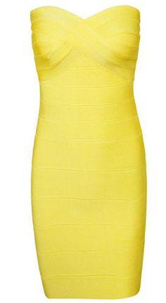 Cassy Mini Yellow Bandage Dress