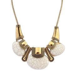 New White & Gold Bohemian Necklace! Brand new! Great with any color outfit! Jewelry Necklaces