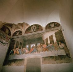 Leonardo DaVinci - Gracing the wall of the Santa Maria delle Grazie convent in Milan since 1498, Leonardo da Vinci's mural of the Last Supper invites viewers to contemplate how the Twelve Apostles felt in the moment after Christ predicted that one of them would prove a traitor.