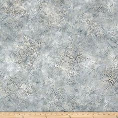 Wilmington Batiks Flower Field Gray from @fabricdotcom  Designed for South Sea Imports, this Indonesian batik fabric is perfect for quilting, apparel and home decor accents. Colors include shades of grey.