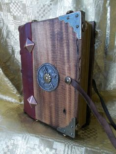 CHARLEMAGNE'S BOOK handmade Bookbinding wood by DreamingOldBooks
