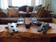 Wine Bottle Caddie Wine Glass Holder Picnic Wine от 86DesignCo