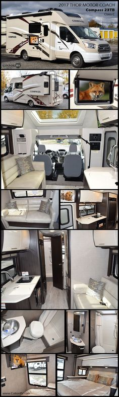 Stylish and comfortable, you will love the COMPASS 23TB by Thor Motor Coach Class C Motorhome, the second you walk through the door!