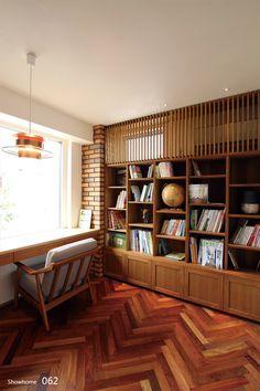 シャビー・フレンチ Bookshelves, Bookcase, Library Study Room, General Goods, Desk In Living Room, Mosaic Tiles, House Design, Flooring, Interior Design