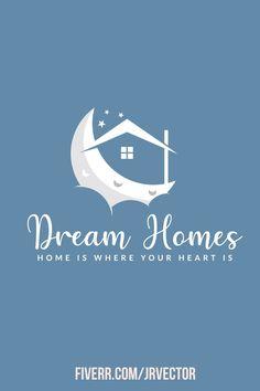 Logo Design, Graphic Design, Minimal Logo, Home Logo, Creative Logo, Modern Logo, Dream Homes, Logos, Logo Designing