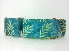 Blue Lagoon Dog Collar Martingale Buckle or Tag by dogsbythebay, $19.99