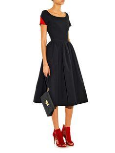 Tara bi-colour ted-satin dress | Preen By Thornton Bregazzi | MATCHESFASHION.COM