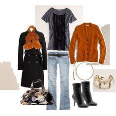 Orange and Black fashion.