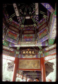 Long Corridor Art Work at Summer Palace, Beijing, China.  #holidays #travel