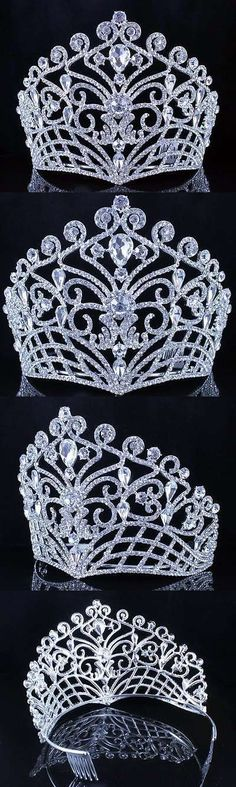 Hair and Head Jewelry 110620: Lush Clear Austrian Crystal Rhinestone Tiara Crown Bridal Prom Pageant T11884 BUY IT NOW ONLY: $32.99