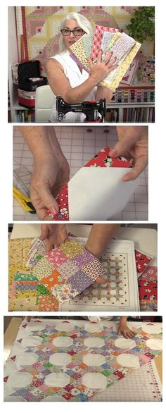 """Be sure to check out Laura Coia of Sew Very Easy, as she breaks down our AUNT GRACE quilt with her own great tips and techniques! The video is titled """"How to Sew a Quilt with Diagonal Rows.&…"""