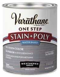 Varathane One Step Stain Poly Weathered Gray 1 Qt Varathane Stain Weathered Wood Stain Staining Wood