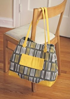 Butterick tote bag: finished!   How About Orange